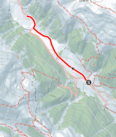 Map / Winter hiking to the Slingia Alpine Hut (Alp Planbell)