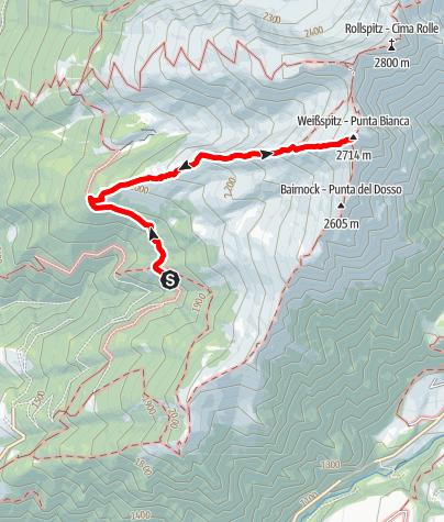 Mappa / Escursione alla Cima Bianca