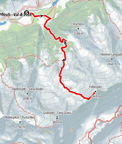 Mappa / Sulla Cima Felbe