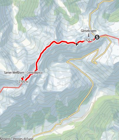 Mapa / Auf das Sarner Weißhorn