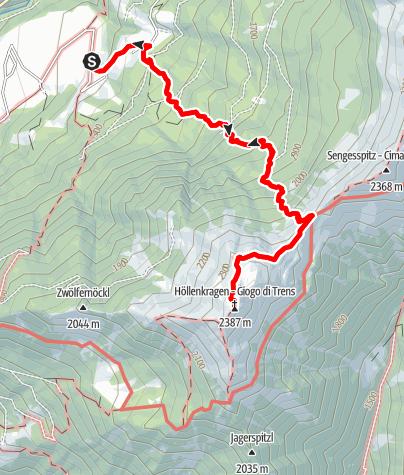 Mapa / Von Tulfer zum Höllenkragen
