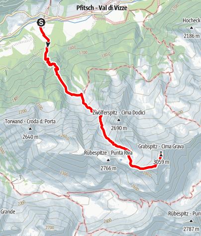 Mapa / Auf die Grabspitze