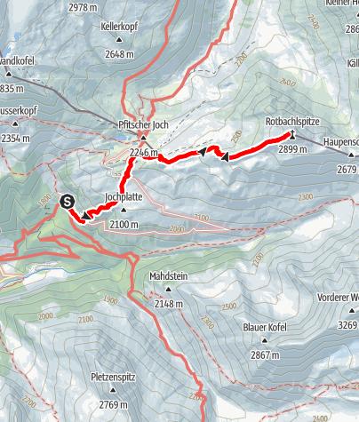Mappa / Sulla Croda Rossa