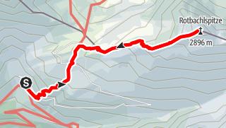 Mapa / Auf die Rotbachlspitze