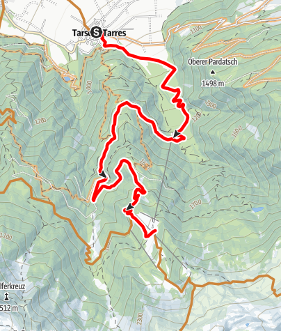 Mappa / Malga di Tarres-Tour