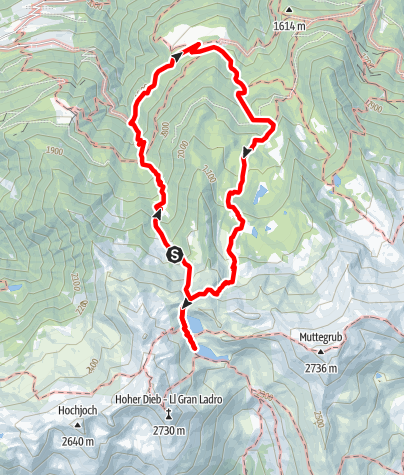 Map / Alpine Tour to the Kofelraster Seen Lakes