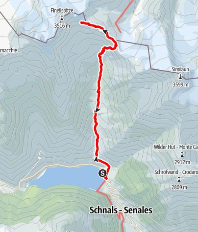 Kaart / Wanderung zur Ötzi Fundstelle
