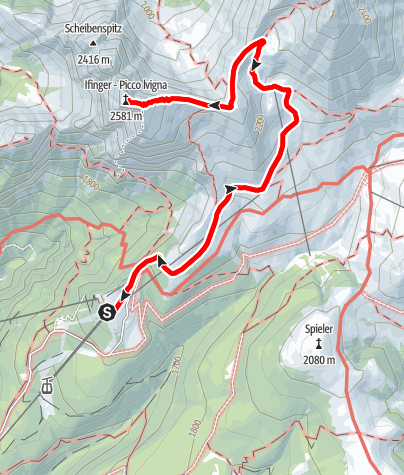 Map / Tour to the Ifinger Peak