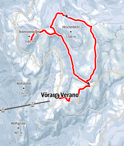 Cartina / Knottnkino - Escursione invernale