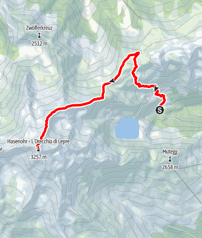 Carte / Bergtour auf das Hasenöhrl