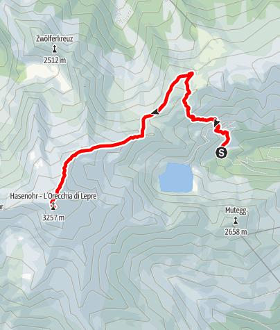 Mapa / Bergtour auf das Hasenöhrl