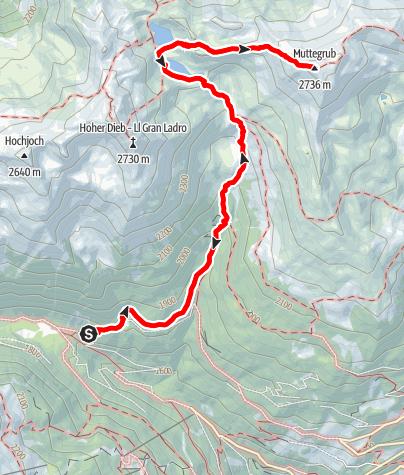 Карта / Bergtour zu den Kofelraster Seen - Muttegrub