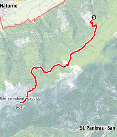Map / Right To The Very Top: Hochwart 2.608 mt.