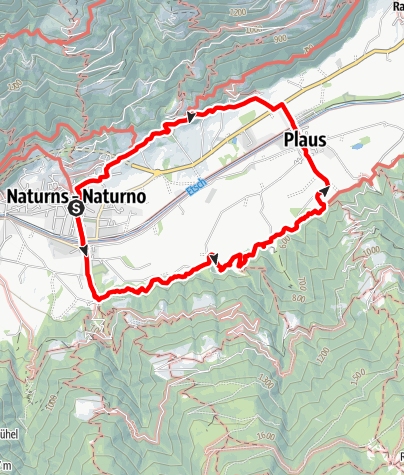 Map / Rittersteig (The Knights' Path) Naturno