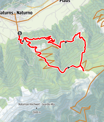 Mapa / Uphill Naturnser Alm