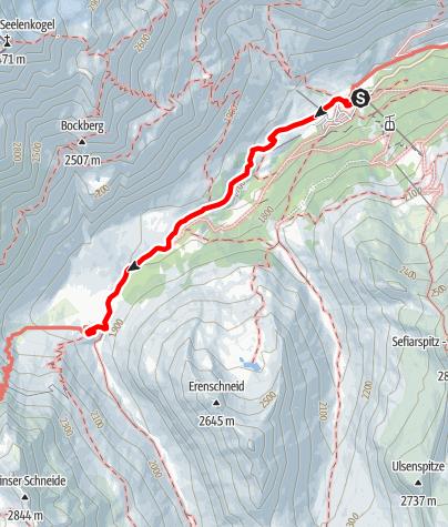 Карта / Wanderung zur Lazinser Alm