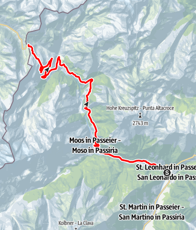 Map / Racing Bike Tour to the Timmelsjoch Mountain Pass