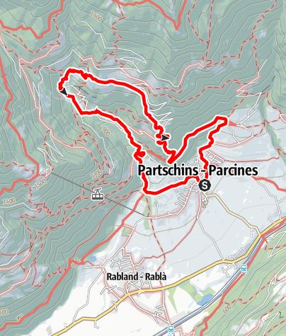 Mapa / Partschinser Erlebnisrundwanderung