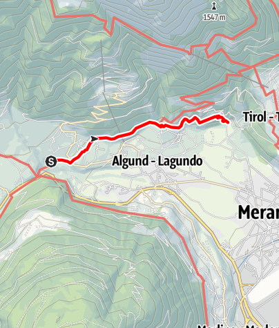 Kaart / Wanderung am Algunder Waalweg
