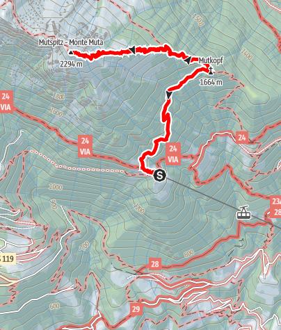Mappa / Escursione al Monte Muta
