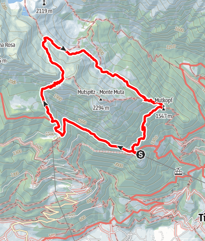 Map / Mountain Hike to the Taufenscharte