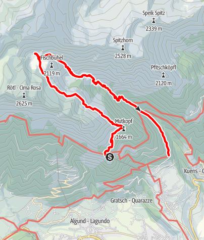 Map / Mountain hike to Oberkaser Alp