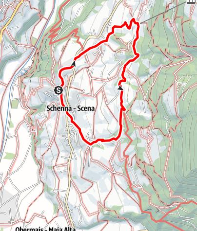 Cartina / Escursione lungo la roggia di Scena - Waalweg
