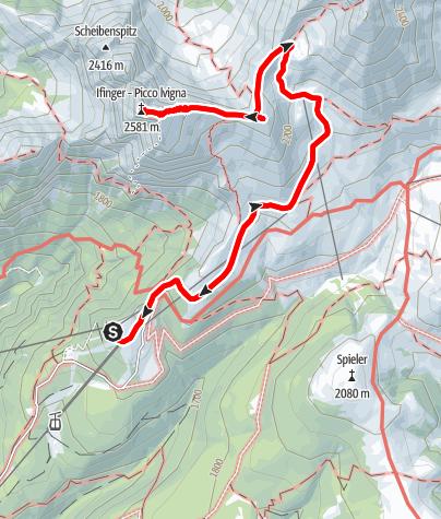 Cartina / Tour in cima al Monte Ifinger