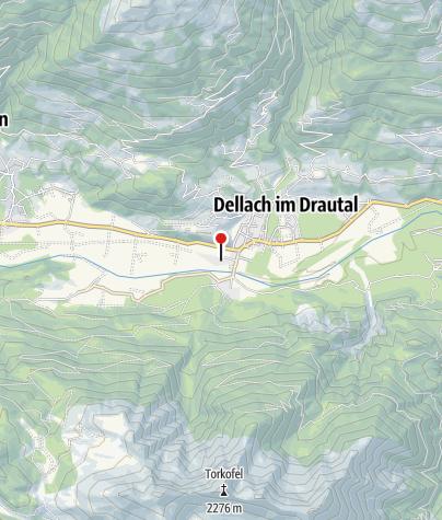 Karte / Haltestelle Dellach