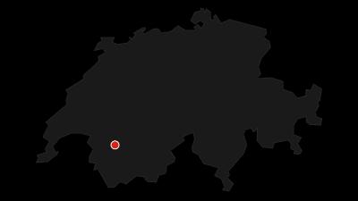Map / Safe route across the Glacier