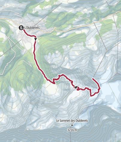 Carte / Une randonnée dans la vallée encaissée