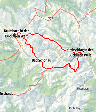 Mapa / Kulinarische Wanderung durch die Bucklige Welt