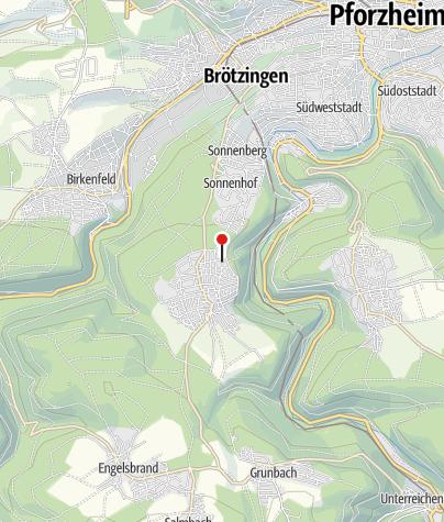 Karte / Büchenbronn Panoramastraße