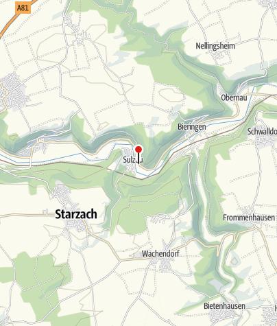 Karte / Sulzau Neckarbrücke