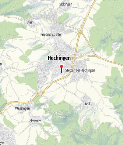 Karte / Hechingen Heiligkreuzstraße