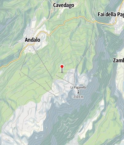 Cartina / Malga di Zambana