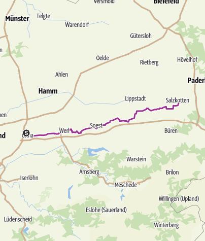 Karte / Westfälische Salzroute