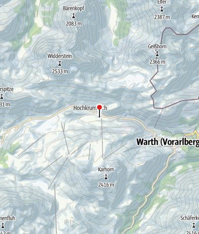 Karte / Ski- und Wanderhotel Jägeralpe