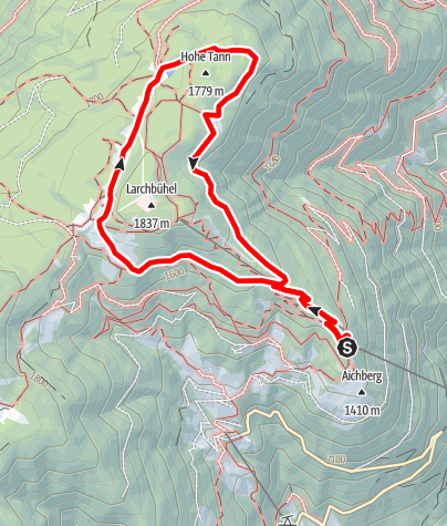 Map / Circular hike on the Vigiljoch Mountain