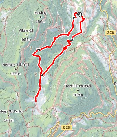 Mapa / Völlan - Gruberhof - Platzers