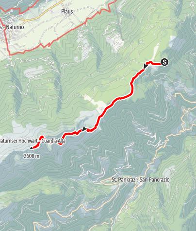 Mapa / Vom Vigiljoch auf die Naturnser Hochwart