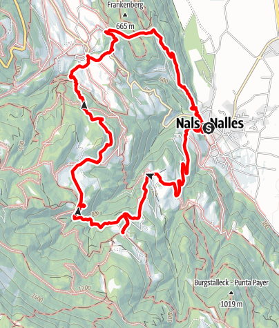 Map / From Nalles to Prissiano via Sirmiano and Grissiano