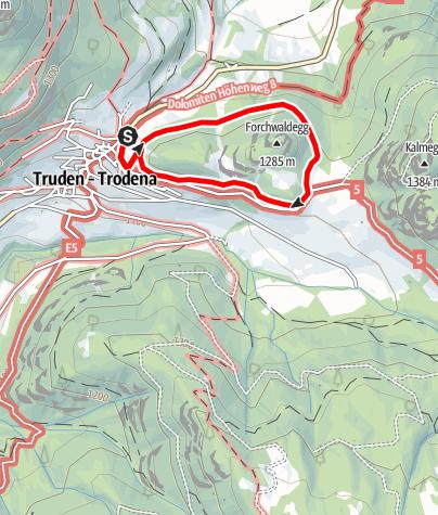 Kaart / Sagenweg Truden