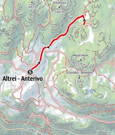 Карта / Sagenweg Altrei