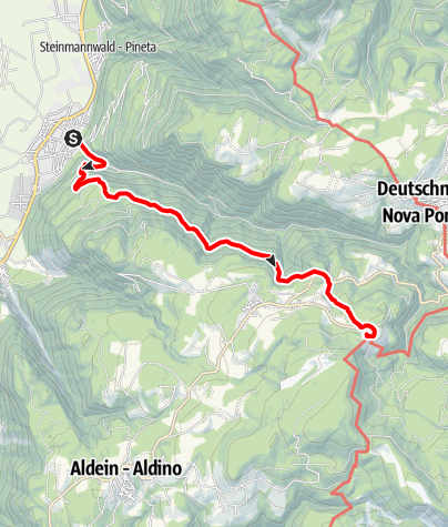 Map / Hike from Laives/Leifers to the Maria Weißenstein pilgrimage site