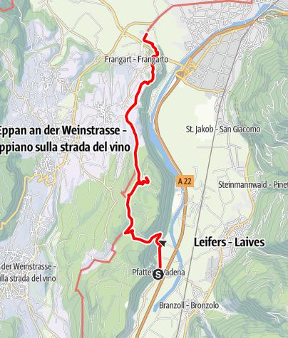 Mapa / Von Pfatten nach Sigmundskron