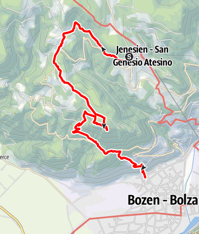 Kaart / Jenesien - Glaning - Bozen