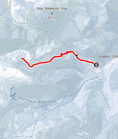 Map / Skitour to Col di Poma / Zendleser Kofel