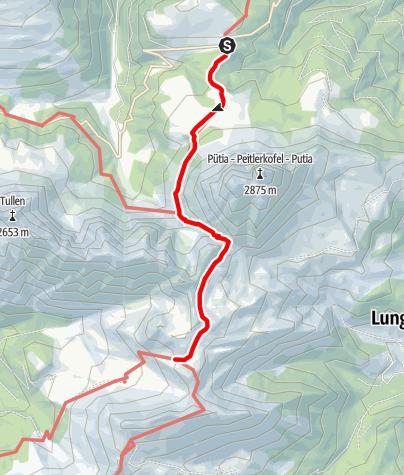 Mapa / Sommerwanderung: Würzjoch - Peitlerscharte - Schlüterhütte