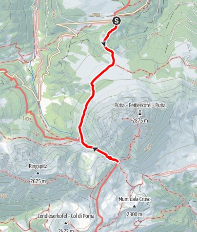 Mapa / Sommerwanderung: Würzjoch - Peitlerscharte